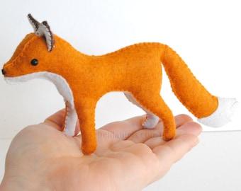 Woodland Stuffed Fox Felt Animal *Made To Order* Custom Waldorf Style Stuffed Fox Toy
