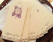 SALE Wedding Wish Tags Purple Rose Wishing Tree Tags Cards Set of 25 Last Set Left