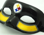 Steelers Sports Mask, Pittsburgh Steelers Football paper mache masquerade mask