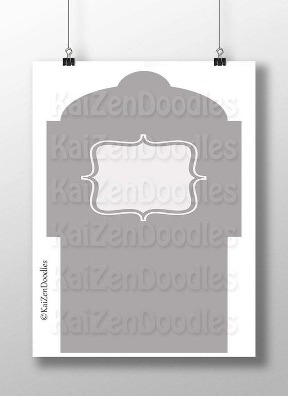 Envelope Template 6x4 DIY Layered PSD PNG