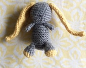 Grey and Yellow Bunny
