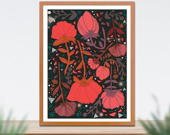 Flower Fine Art Print- A4 A3 Print- Wall Art- Home