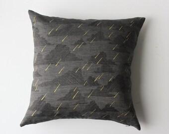 Linen Pillow Cover - Square Dark Rainy Day