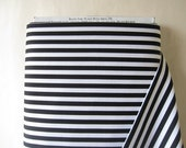 Black and White Clown Stripe Fabric from Michael Miller - By the Yard - 1 Yard - Black Stripes