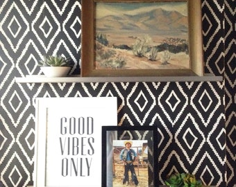 Removable Wallpaper // Diamonds are a girls best friend //  Perfect for renters and DIY crafters