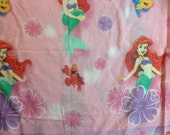 Ariel   Little Mermaid pink FULL  flat bed  sheet     Disney ArielA