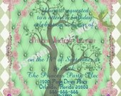 FAIRY TINKERBELL Inspired Invitation Fairytale Birthday CUSTOM Wording