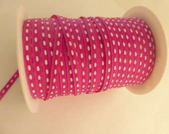 "1/8"" May Arts Fuchsia Grosgrain Ribbon with White Center 3 Yards"