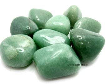 One Jumbo Aventurine Tumbled Stone, Metaphysical, Crystals, Feng Shui, Pocket Stones, Crystal Healing, Green Stones