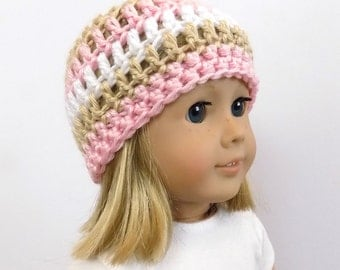 Knit Doll Hat, 18 Inch Doll Clothes, Doll Clothing