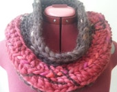 Chunky Two-Toned Wool Cowl
