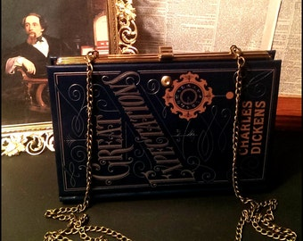 Book Clutch Great Expectations by Charles Dickens Literary Book Purse Made to Order