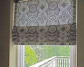 Custom made, faux Roman shade, pleated valance, Premier Dakota timberwolf