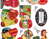 Digital Download Vintage Valentine Cards (collection 1)