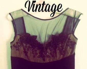 Vintage Couture Velvet Cocktail Dress