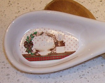 Christmas Spoon Rest House of Lloyds 1988