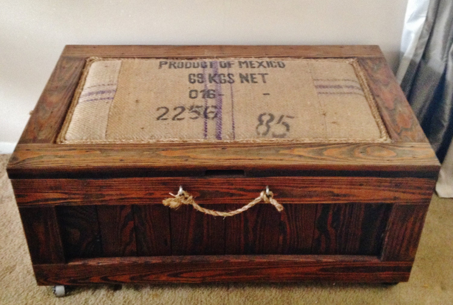 Farmhouse Rustic Coffee Table Bench Trunk By Antique2Chic On Etsy