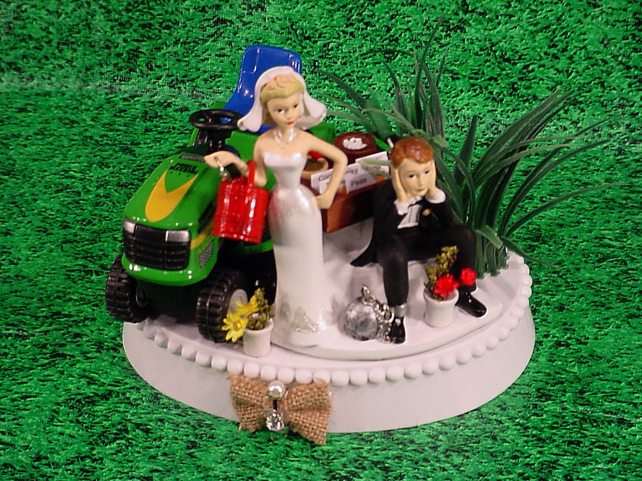 Green Lawn Tractor Country Rustic Custom Groom s Wedding