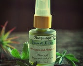 Emerald Elixir Natural Vegan Facial oil with Hemp & Argan oils. All skin types including oily, combination, problem