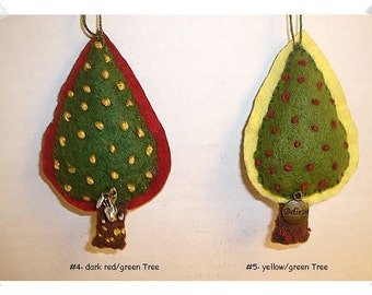 Tree Ornament/Pointed/ Made of Felt/ Handmade*/MADE to Order**