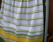 Vintage Sears Perma-Prest Pinch-Pleat Cafe Curtain Panel
