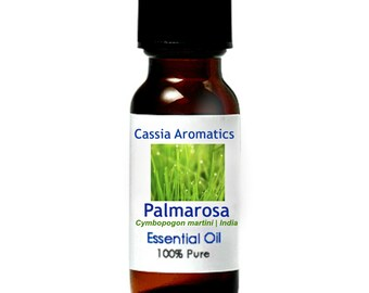 Palmarosa Essential Oil Certified Pure Grade 100% Pure choose your size