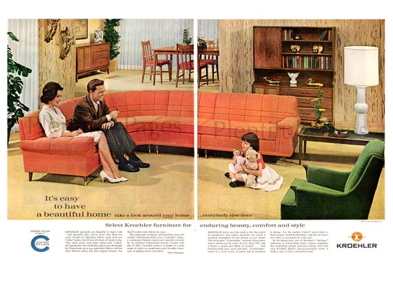 1961 kroehler furniture vintage ad mid century modern. Black Bedroom Furniture Sets. Home Design Ideas