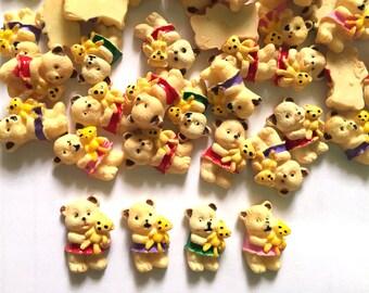 20 pcs cute Teddy Bear cartoon cabochon flatback size 10 mm x 17mm