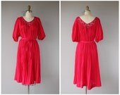 Vintage 70s Dress | 70s Midi Dress | 1970s Dress | 70s Tent Dress | Cotton Guaze Dress | Boho Dress 1970s | 70s Boho