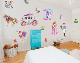 Prince and Princess Fairy Princess Wall Stickers