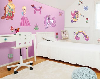 King and Queen Fairy Princess Wall Stickers