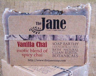 Vanilla Chai  Tea Soap - Hot Process Soap - Masala Chai Tea Soap - Rustic Soap