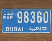 Car license plate Dubai car plate collectable plate Asian car plates decorative plates