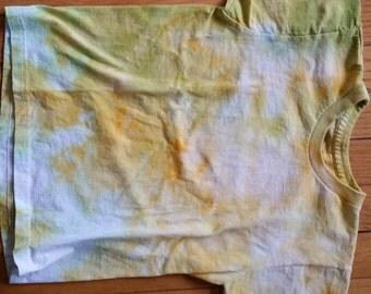 T-SHIRT CHILD MEDIUM Tiedye Yellow Green and White