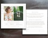 Photographer Print Release Template - Photoshop Marketing - Copyright Form for Wedding Photographers (digital Photoshop files) - m0127