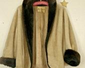 Bon Marche' Vintage Faux Fur Jacket/SALE!