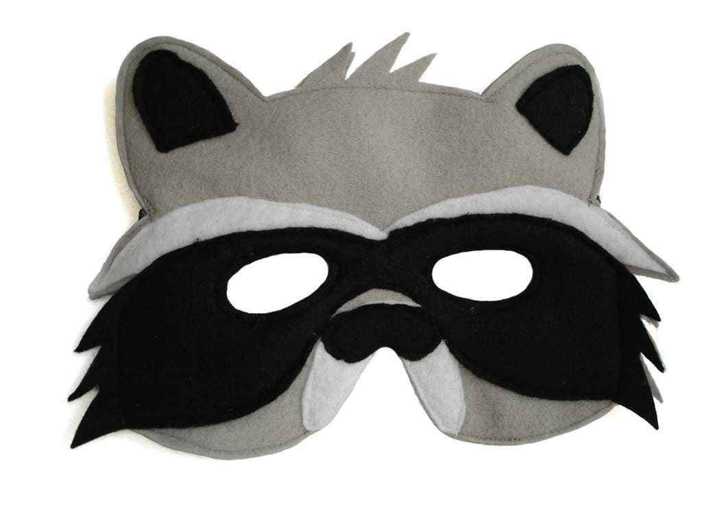 Children's Woodland Animal RACCOON Felt Mask