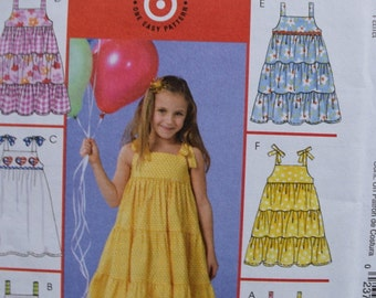 McCalls M4814 Toddlers and Children's Dresses  6 Great Looks (uncut)