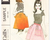Vintage 1966 McCall's Sample Sewing Pattern Misses' and Junior Short Apron UNCUT