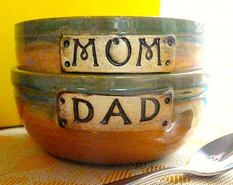 CEREAL BOWLS for Mom' or 'Dad