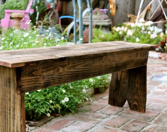 Coffee Table - Bench - Accent - Side - Wooden - Wood - Reclaimed Wood - Honeystreasures - Rustic Home Decor - 48 Long x 10 Wide x 16 Tall