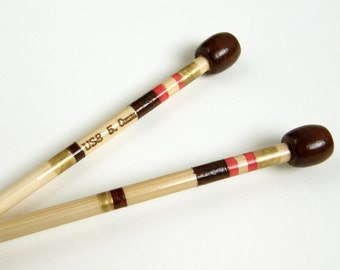 Size 8 Knitting Needles Hand Painted, 5mm Knitting Needles, Single Pointed Knitting Needles, Made of Bamboo