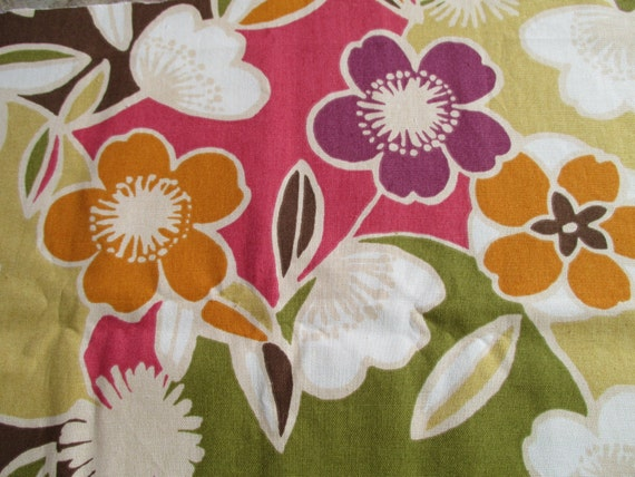 Large Floral Home Decor Fabric 1 Yard of Fabric by WhatItSeams