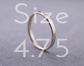 2mm White Gold Ring | 14K White Gold Wedding Ring | Size 4.75 Ready to Ship