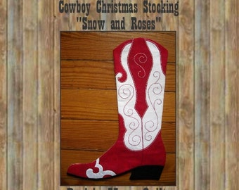 Cowboy Boot Christmas Stocking Pattern, 2014 Print version