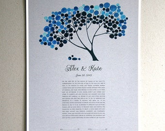 Modern Ketubah Tree of Life art print - TREE SHADE NAP by Elena Berlo - jewish winter wedding ketubah, contemporary ketubah design, covenant
