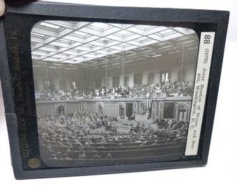 1 Keystone Glass Slide. Circa 1915. President Woodrow Wilson Addressing Congress.  Washington, D.C.