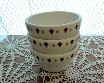 Vintage Custard Cups Homer Laughlin Restaurant Ware