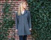 Womens L PENDLETON Wool Coat - English Style - Gray - Mid Length Car Coat