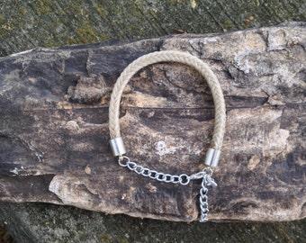Adjustable Length White Horse Hair Braided Horsehair Bracelet - 10MM Square Braid